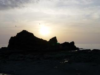 2004/5/5 千畳敷の夕陽、クリックで早春の津軽と西海岸の夕陽へ